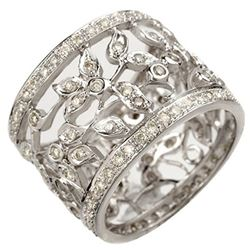 1.30 ctw Certified VS/SI Diamond Ring 18k White Gold - REF-172M8G