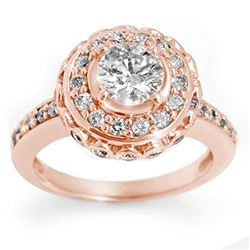 2.04 ctw Certified VS/SI Diamond Ring 14k Rose Gold - REF-285H5R
