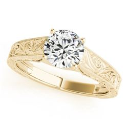 0.75 ctw Certified VS/SI Diamond Ring 18k Yellow Gold - REF-135N4F