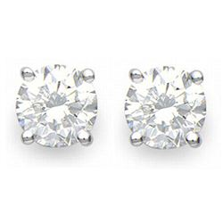 2.0 ctw Certified VS/SI Diamond Stud Earrings 18k White Gold - REF-432F2M