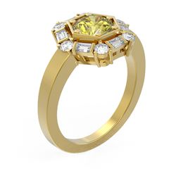 2.18 ctw Fancy Yellow Diamond Ring 18K Yellow Gold - REF-359H8R