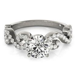 0.9 ctw Certified VS/SI Diamond Ring 18k White Gold - REF-100H9R