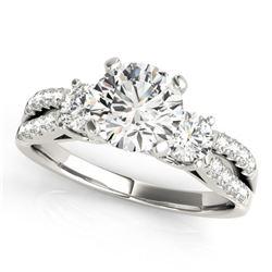 1.25 ctw VS/SI Diamond 3 Stone Ring 18k White Gold - REF-169F3M