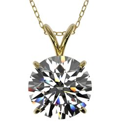 2.53 ctw Certified Quality Diamond Necklace 10k Yellow Gold - REF-658H6R