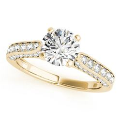1.1 ctw Certified VS/SI Diamond Ring 18k Yellow Gold - REF-114N3F