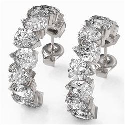 7.7 ctw Pear Cut Diamond Designer Earrings 18K White Gold - REF-825H5R