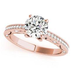 1.25 ctw Certified VS/SI Diamond Antique Ring 18k Rose Gold - REF-283N5F