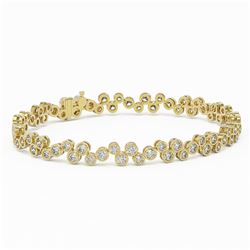 8 ctw Diamond Designer Bracelet 18K Yellow Gold - REF-737A8N