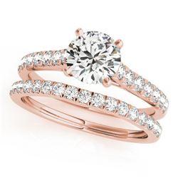 1.83 ctw Certified VS/SI Diamond 2pc Wedding Set 14k Rose Gold - REF-327X3A
