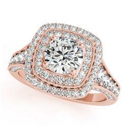 2 ctw Certified VS/SI Diamond Halo Ring 18k Rose Gold - REF-329H9R
