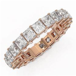 5.46 ctw Princess Cut Diamond Eternity Ring 18K Rose Gold - REF-731H6R