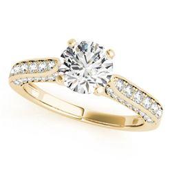 1.6 ctw Certified VS/SI Diamond Ring 18k Yellow Gold - REF-300R3K