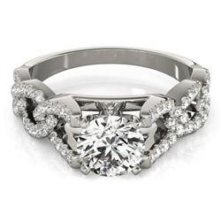 1.5 ctw Certified VS/SI Diamond Ring 18k White Gold - REF-298G4W