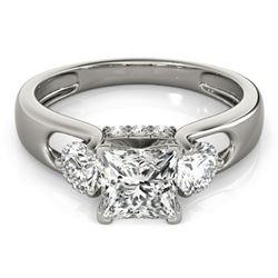 1.6 ctw VS/SI Princess Cut Diamond 3 Stone Ring 18k White Gold - REF-350H2R