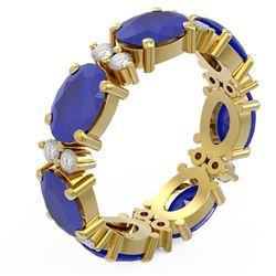 8.62 ctw Sapphire Ring 18K Yellow Gold - REF-114R9K