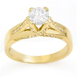 1.18 ctw Certified VS/SI Diamond Ring 14k Yellow Gold - REF-263N4F