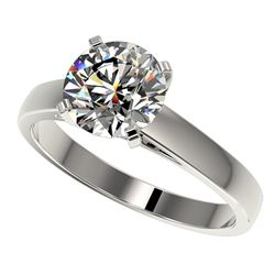 2 ctw Certified Quality Diamond Engagment Ring 10k White Gold - REF-439M3G