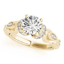 0.95 ctw Certified VS/SI Diamond Antique Ring 18k Yellow Gold - REF-150X4A