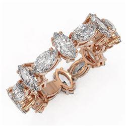 4.16 ctw Marquise Cut Diamond Eternity Ring 18K Rose Gold - REF-592G4W