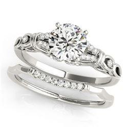 0.75 ctw Certified VS/SI Diamond 2pc Wedding Set 14k White Gold - REF-107K8Y