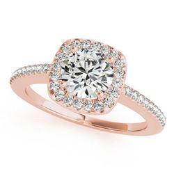 1.25 ctw Certified VS/SI Diamond Halo Ring 18k Rose Gold - REF-265F9M