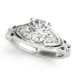 1.35 ctw Certified VS/SI Diamond Solitaire Ring 18k White Gold - REF-373Y6X