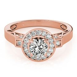 1.75 ctw Certified VS/SI Diamond Halo Ring 18k Rose Gold - REF-388X2A