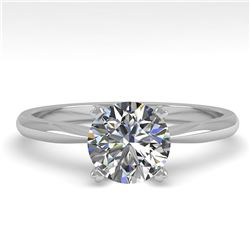 1.0 ctw VS/SI Diamond Engagment Designer Ring 14k White Gold - REF-222R8K