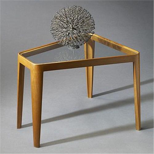 Edward Wormley Wedge Shaped End Table Model 4809 Dunbar