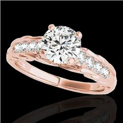1.2 ctw Certified Diamond Solitaire Ring 10k Rose Gold - REF-197R8K