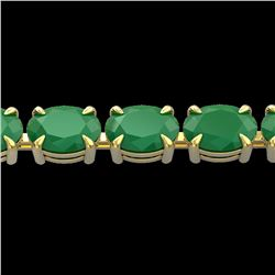 29 ctw Emerald Eternity Designer Bracelet 14k Yellow Gold - REF-180F2M