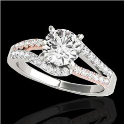 1.65 ctw Certified Diamond Solitaire Ring 10k 2Tone Gold - REF-259A3N