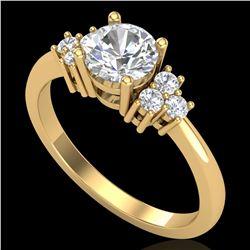 1 ctw VS/SI Diamond Solitaire Ring 18k Yellow Gold - REF-227F3M