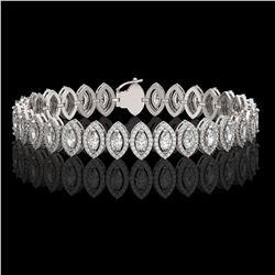 11.13 ctw Marquise Cut Diamond Micro Pave Bracelet 18K White Gold - REF-964A2N