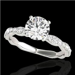 1.4 ctw Certified Diamond Solitaire Ring 10k White Gold - REF-197Y8X