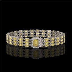 20.93 ctw Citrine & Diamond Bracelet 14K White Gold - REF-318A2N