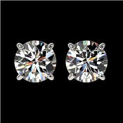1.50 ctw Certified Quality Diamond Stud Earrings 10k White Gold - REF-127K5Y