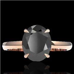5 ctw Black Diamond Designer Ring 14k Rose Gold - REF-161G8W