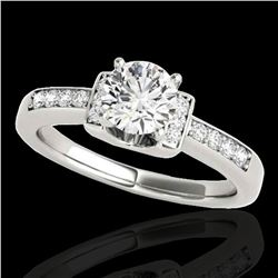 1.11 ctw Certified Diamond SolitaireRing 10k White Gold - REF-190K9Y