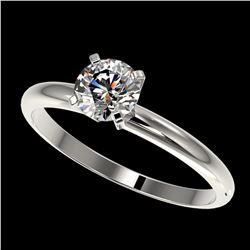 0.75 ctw Certified Quality Diamond Engagment Ring 10k White Gold - REF-68R2K