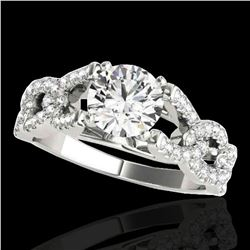 1.5 ctw Certified Diamond Solitaire Ring 10k White Gold - REF-163H6R