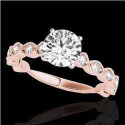 1.75 ctw Certified Diamond Solitaire Ring 10k Rose Gold - REF-245F5M