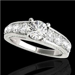 3.05 ctw Certified Diamond Solitaire Ring 10k White Gold - REF-436F4M