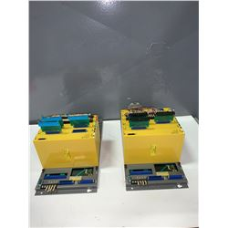 (2) - FANUC A03B-0801-C009 I/O BASE UNITS WITH MODULES AS PICTURED