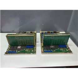 (2) - FANUC A16B-1010-0041 MOTHER BOARDS WITH DAUGHTER BOARDS AS PICTURED