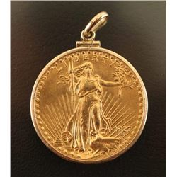Liberty $20 Gold Piece Pendant