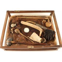 Original Indian Artifact Display
