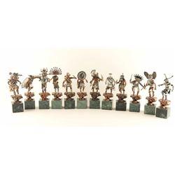 Set of 12 Mixed Media Sculptures