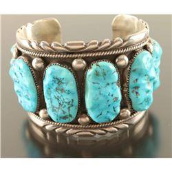 Large Navajo 8 Stone Cuff