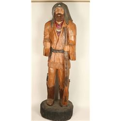 6' Wooden Mountain Man Carving